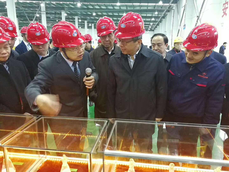 赛德丽董事长刘俊才陪同参观设备